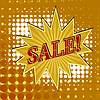 Vector clipart: background of sign of sale.