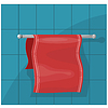 Vector clipart: towels on holder.