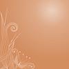 Векторный клипарт: Осенний фон с изображением декоративных растений