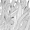 Векторный клипарт: Черно-белый рисунок травы.
