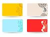 Векторный клипарт: Набор карт с украшениями.