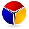 Векторный клипарт: Логотип с изображением людей.