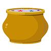 Vector clipart: Magic pot.