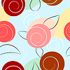 Vector clipart: Seamless texture with abstract flowers.