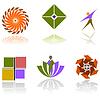Векторный клипарт: Красочные абстрактные элементы дизайна