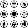 Векторный клипарт: Набор черных иконок.