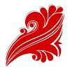 Векторный клипарт: Красный абстрактный цветок.