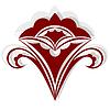 Векторный клипарт: Красный силуэт фантастического цветка.