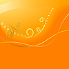 Abstract orange background with swirls.