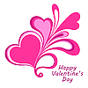 Vector clipart: Valentines composition of the hearts.