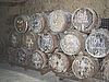 Photo 300 DPI: Very old barrels to transport wine