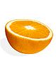 Połowa pomarańczowy | Stock Foto