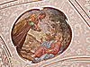 가톨릭 교회의 천장 그림   Stock Foto