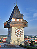 Photo 300 DPI: Graz, Austria. Tower Schlossberg. Sights of old Europe