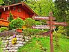 Photo 300 DPI: Signpost in the Austrian village