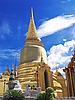 왓 프라 Keao 사원, 방콕에서 황금 불탑 | Stock Foto