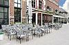 스 헤르 토헨 보스에서 거리 카페. 네덜란드 | Stock Foto
