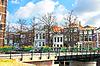 도시의 전형적인 네덜란드 풍경. 린험,   Stock Foto