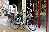 Bike is parked near shop in Gorinchem | Stock Foto