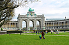 Cinquantennaire Park in Brussels in spring | Stock Foto