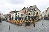 브레다의 네덜란드 도시에서 거리 카페. 네덜란드   Stock Foto