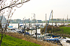 Photo 300 DPI: Pier and ship in Gorinchem
