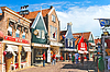 Volendam on street. Netherlands | Stock Foto