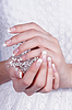 Beautiful female hands with manicure | Stock Foto