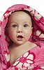 Little baby boy dressed in rosy bathrobe | Stock Foto