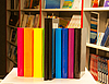 Colorful books and electronic book reader | Stock Foto