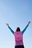 ID 3223989   Teen girl staying with raised hands   High resolution stock photo   CLIPARTO