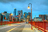 Downtown Minneapolis, Minnesota at night time | Stock Foto
