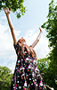 ID 3301363 | Teen girl with raised hands | High resolution stock photo | CLIPARTO