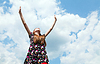 ID 3301364 | Teen girl with raised hands | High resolution stock photo | CLIPARTO