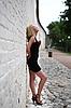 섹시한 금발 모델   Stock Foto
