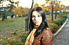 ID 3172229 | Cute girl zewnątrz jesień | Foto stockowe wysokiej rozdzielczości | KLIPARTO