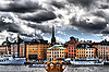 Panorama of the city of Stockholm | Stock Foto