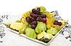 과일과 열매와 플레이트   Stock Foto