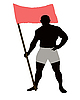 Vector clipart: Athlete with flag