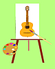The Picture with music instrument