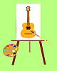 Vektor Cliparts: Das Bild mit Musikinstrument