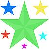 Vektor Cliparts: Die Sterne