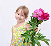 Kinder und Blumen | Stock Photo