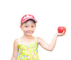 Child and apple | Stock Foto