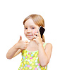 Child and telephone | Stock Foto