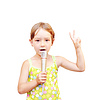 Child and microphone | Stock Foto