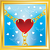 Vector clipart: heart in golden chains