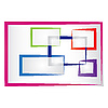 Vector clipart: abstract colored frames