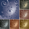 Vector clipart: abstract curly backgrounds