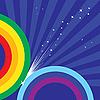 Векторный клипарт: сверкающие радугой
